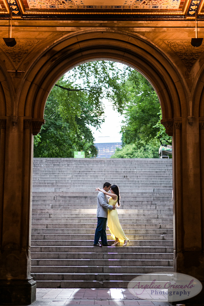 Central Park Engagement Photo Bubbles ideas Indian engagement Bethesda Terrace