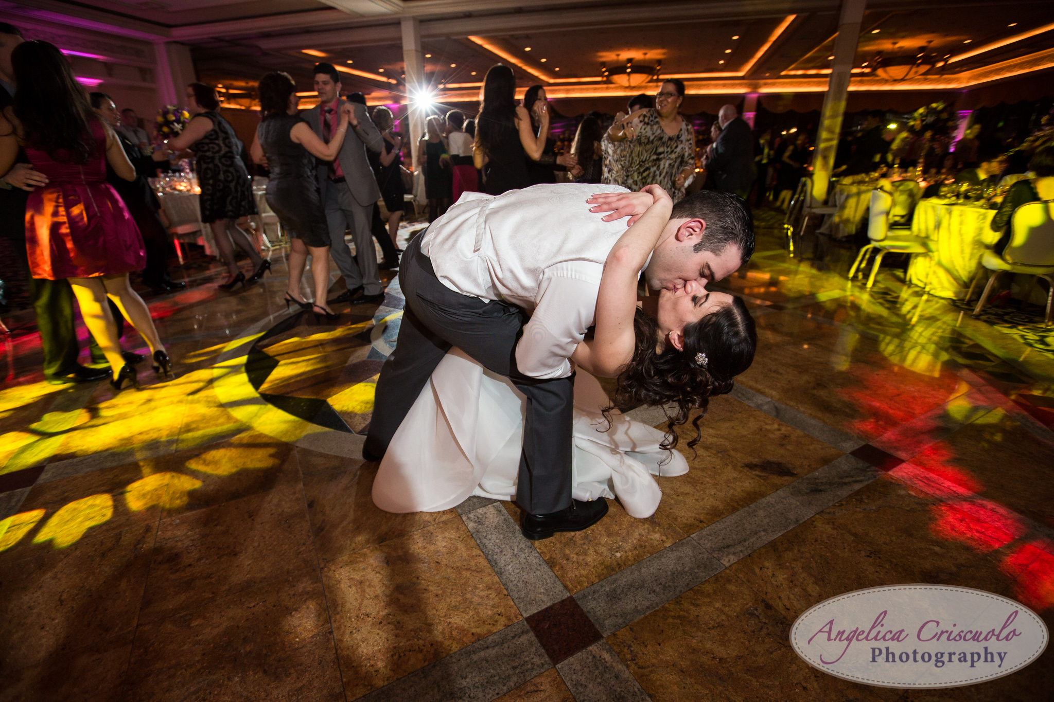 Reception party at Marina Del Rey New York Wedding Photographer Bronx