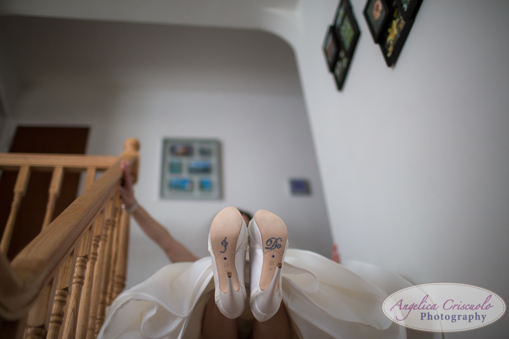 """I DO"" shoe something blue New York Wedding Photographer"
