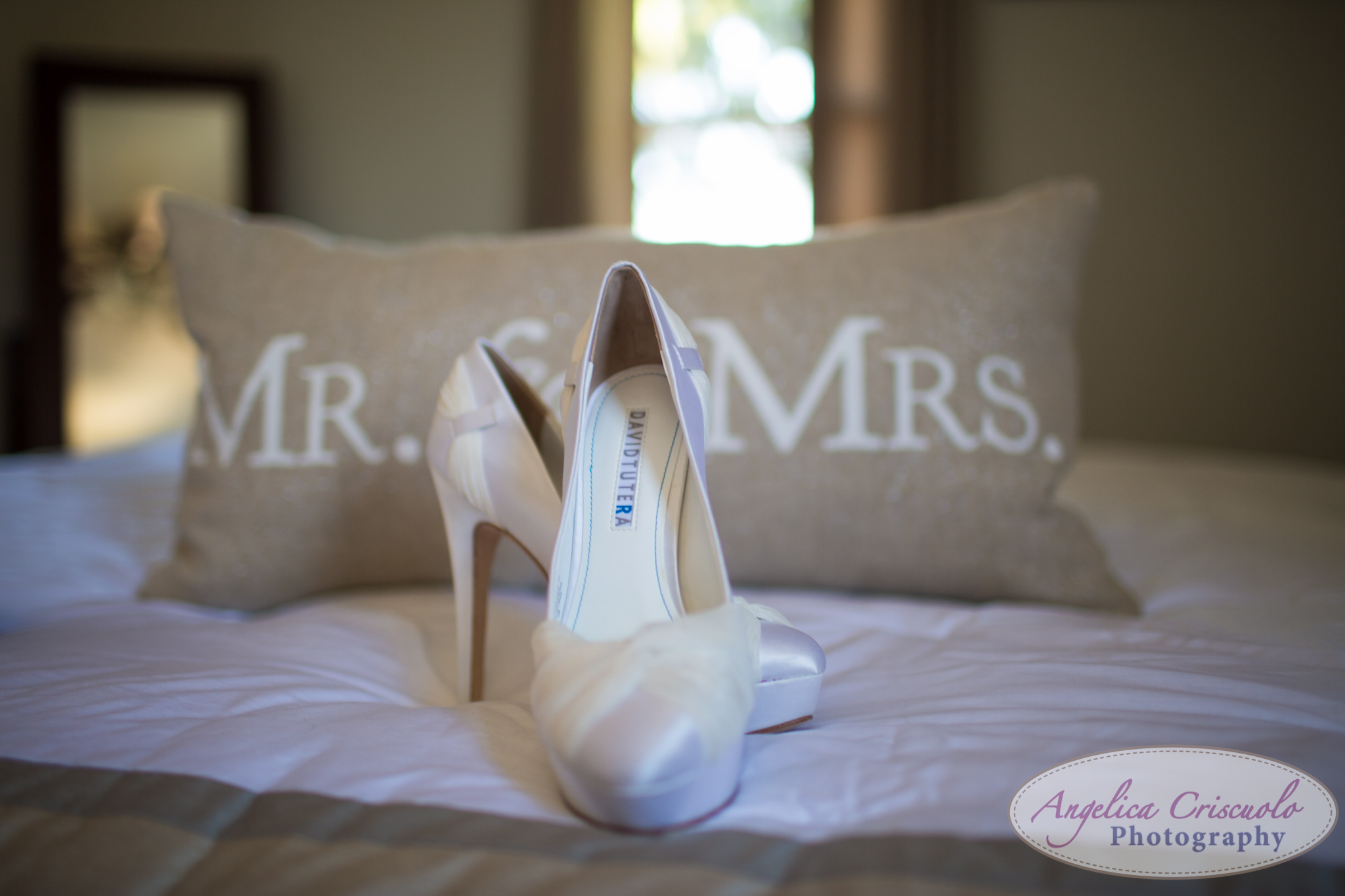 New York Wedding Photographer Shoe detail Mr & Mrs