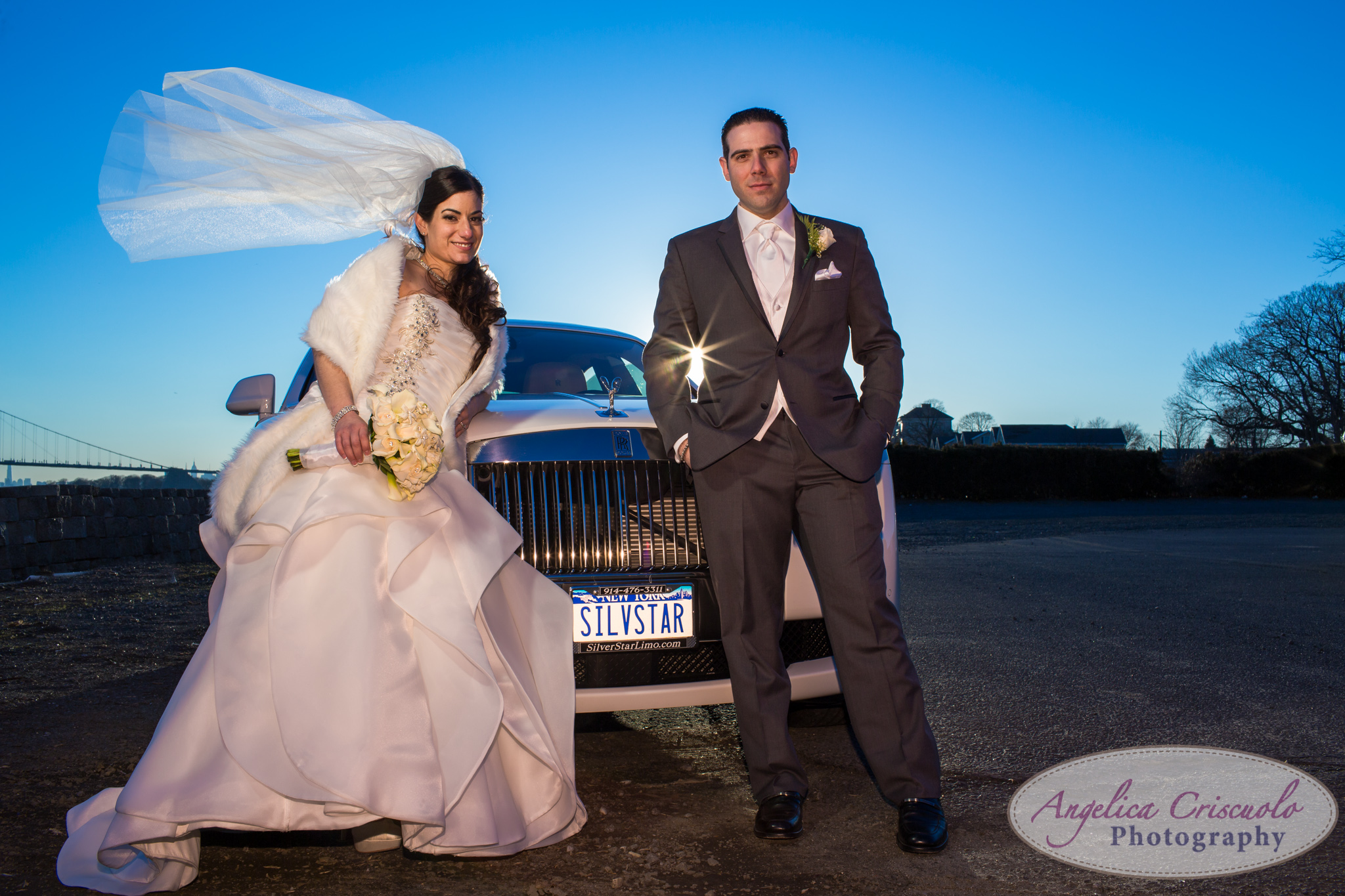 New York Wedding Photographer Marina Del Rey Rolls Royce Silver Star Limousine