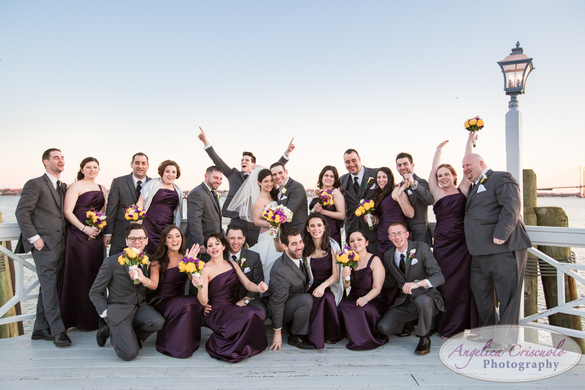 fun bridal party photos New York Wedding Photographer bronx queens LIC