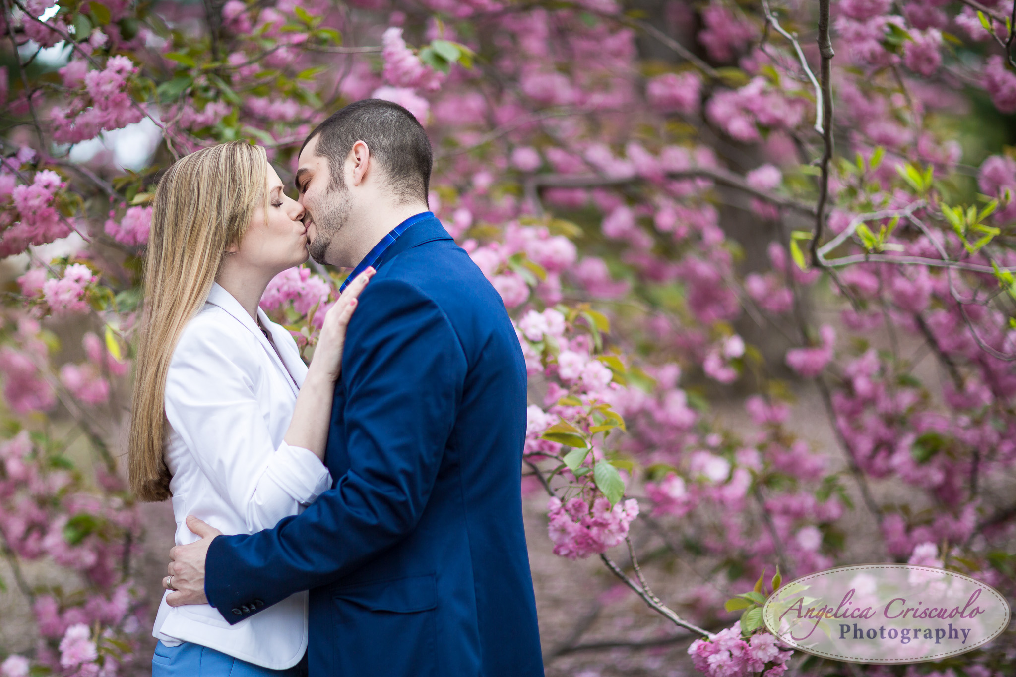 NYC Engagement Wedding Photography Ideas Central Park Cherry Blossoms