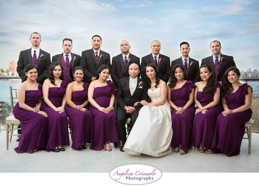 new york wedding photography bridal party photo