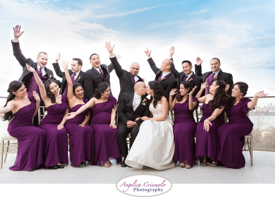 new york wedding photography fun bridal party