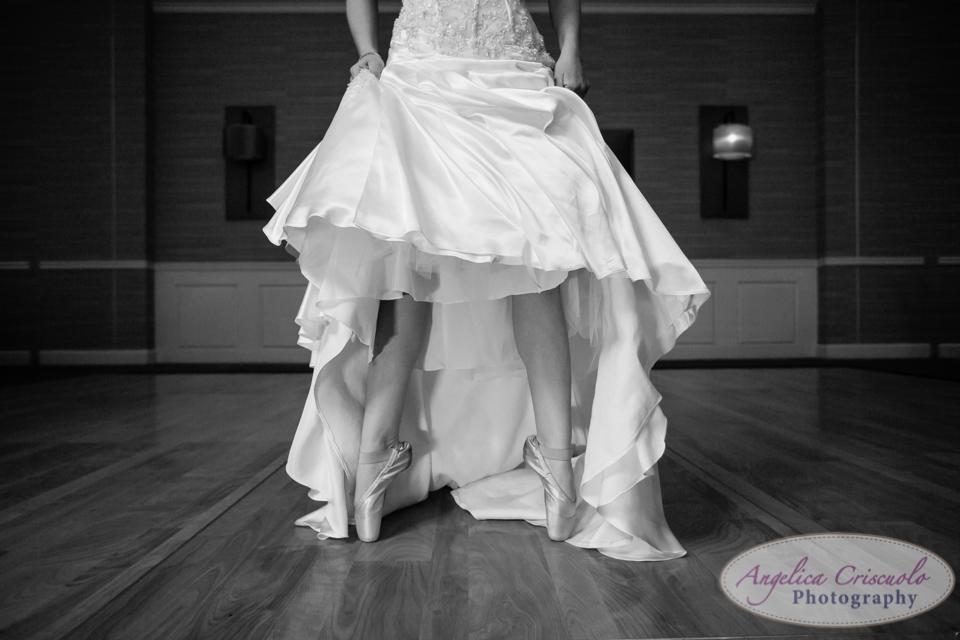 NJ Wedding Photography Ballerina Bride tip toe