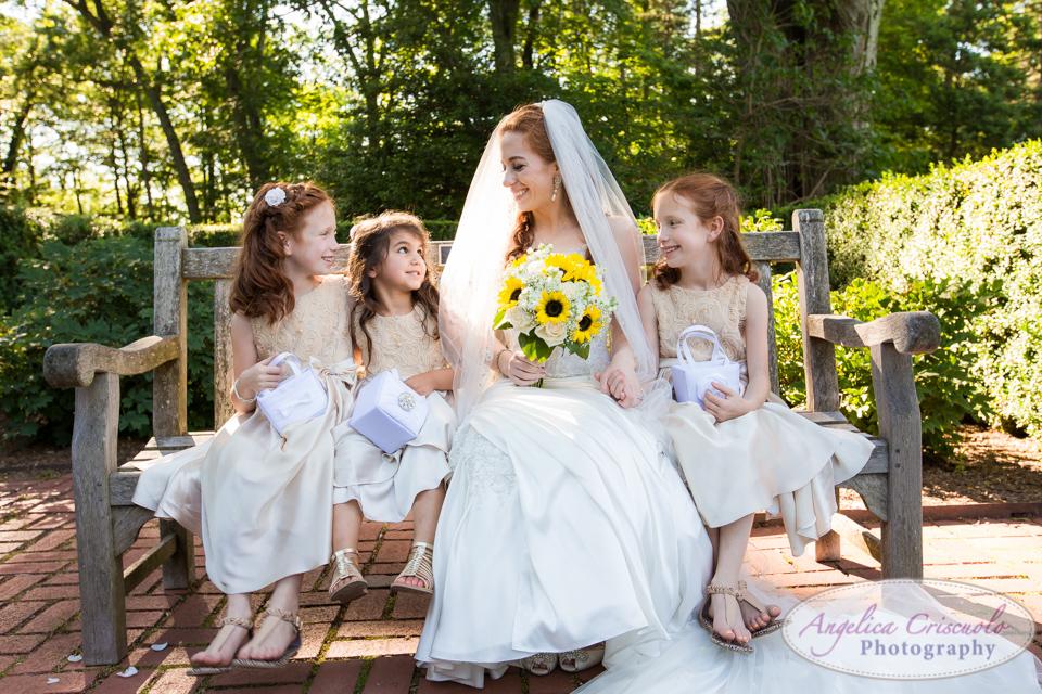 NJ Bride and flower girls