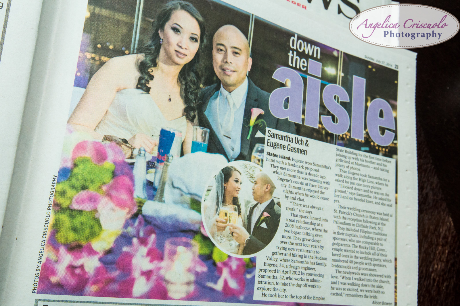 Down The Aisle Palisadium NJ Wedding NY Daily News