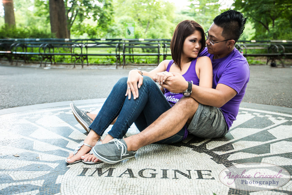 Imagine Central Park engagement photography ideas nYC