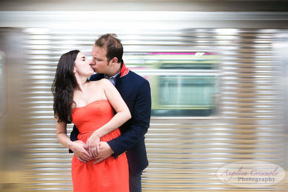 NYC Subway Engagement Photo ideas