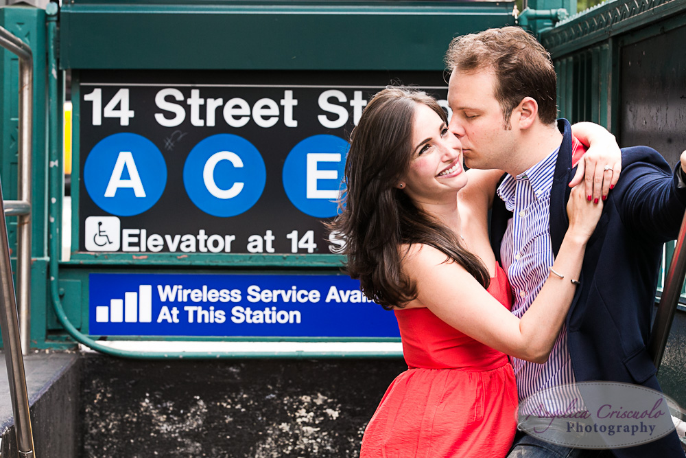 NYC Subway Engagement Photo ideas ACE