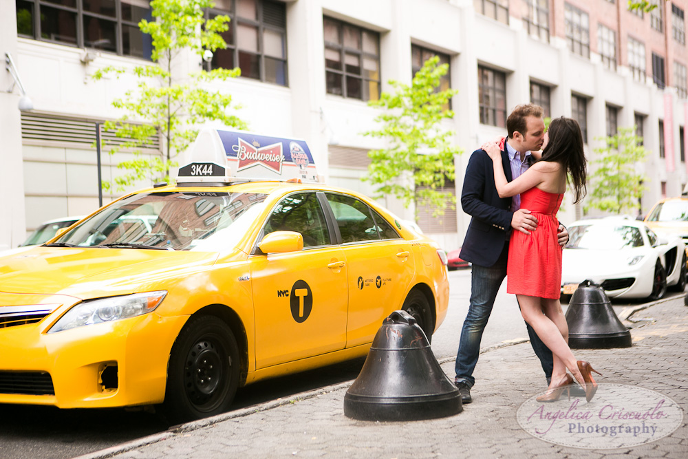 New York City Yellow Cab Taxi engagement photo ideas