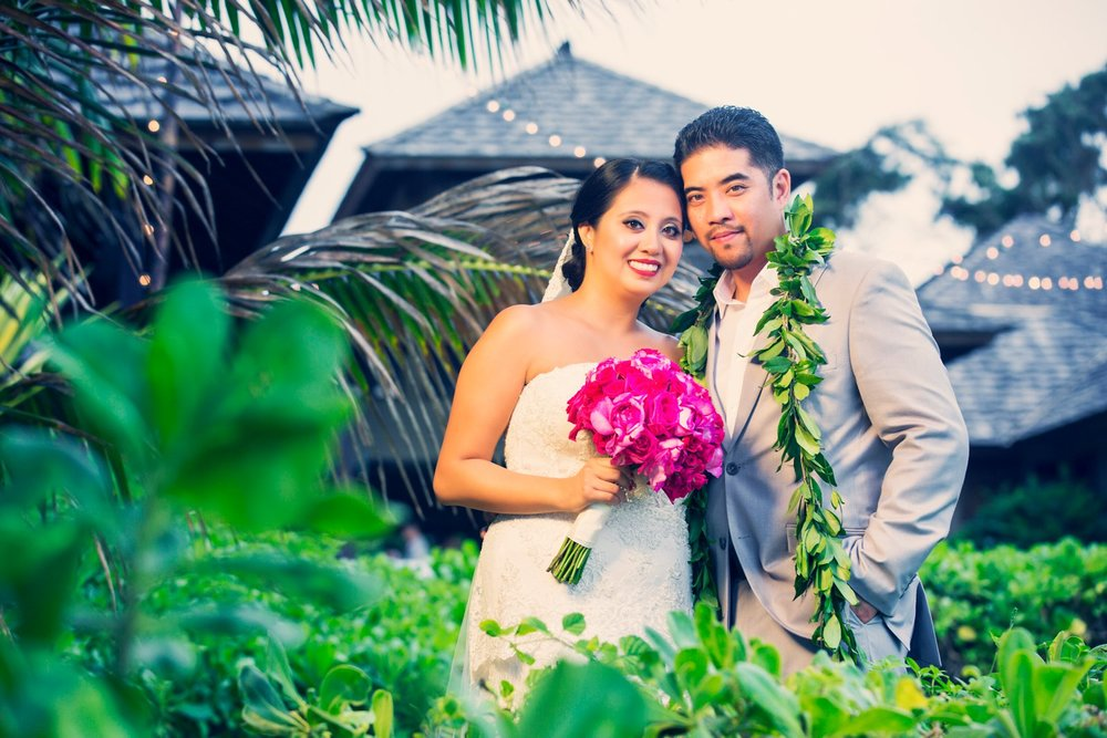 Oahu Hawaii Destination Wedding Photos Hale Ohana House Terrace Turtle bay