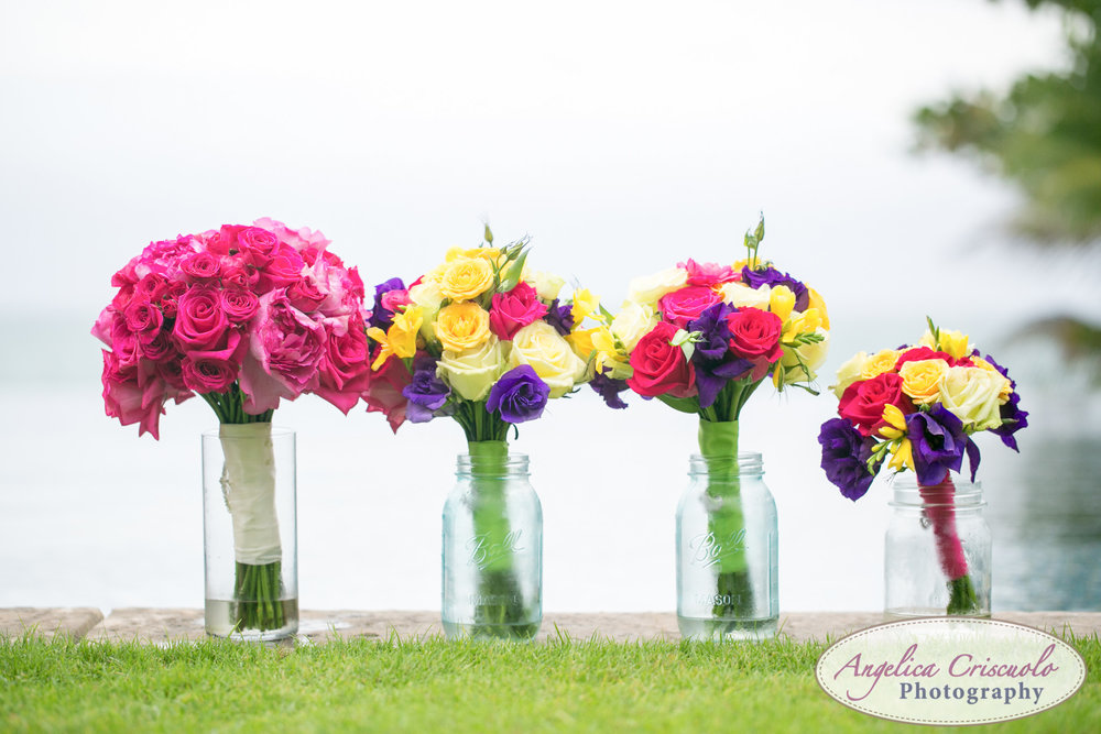 Oahu Hawaii Destination Wedding Photos flowers