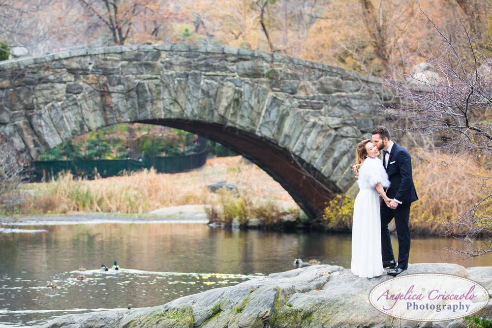 Central Park New York engagement couple wedding photos formal