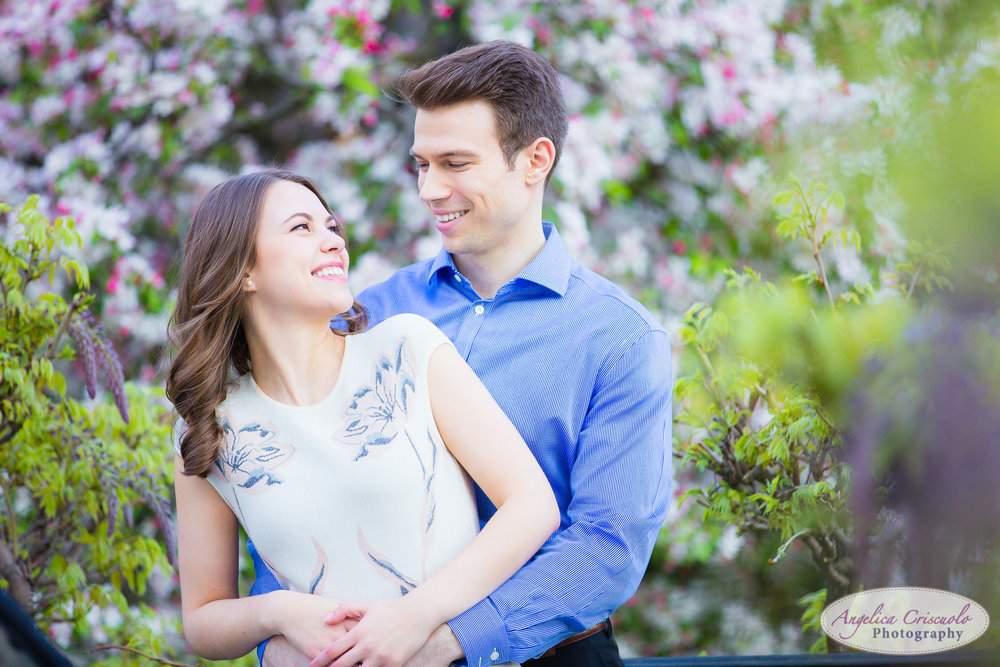 New York Wedding Engagement Conservatory Garden in Central Park Cherry Blossoms fun ideas