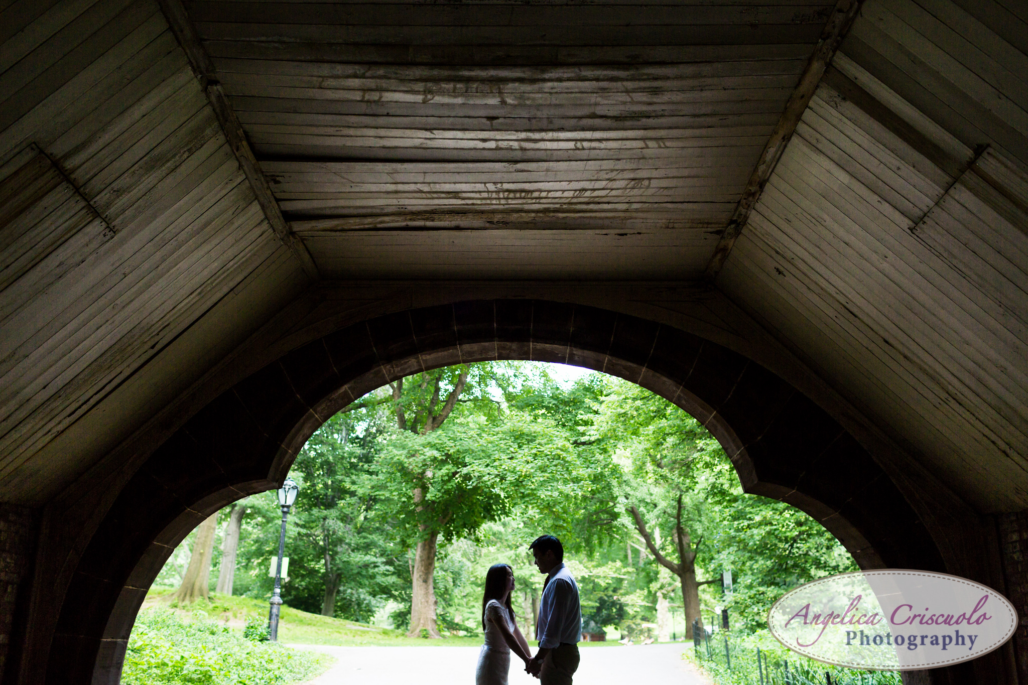 new york engagement photos ideas with a tunnel