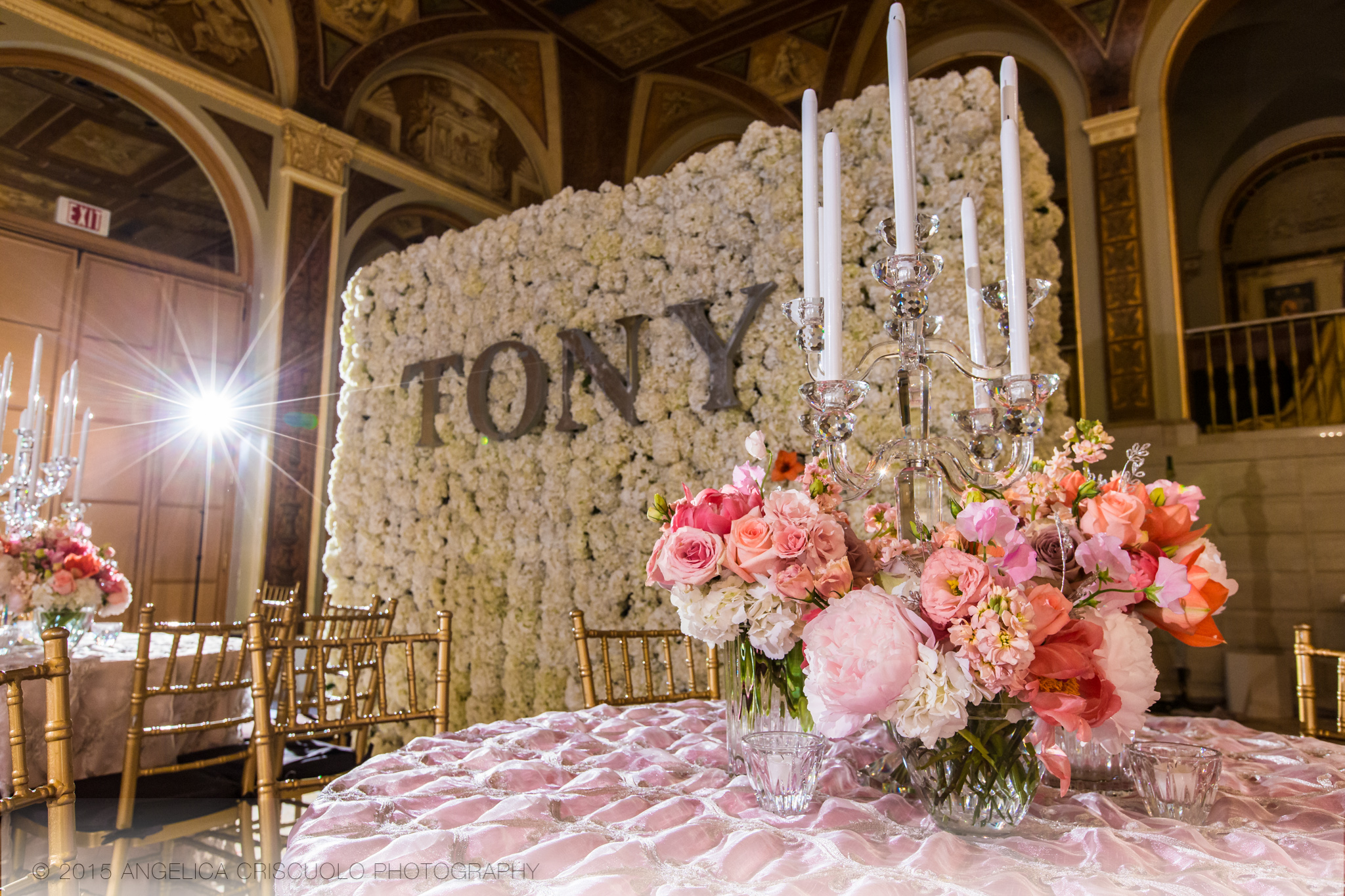 New York Tony Awards Gala Park Plaza Ivie Joy Flowers Centerpieces