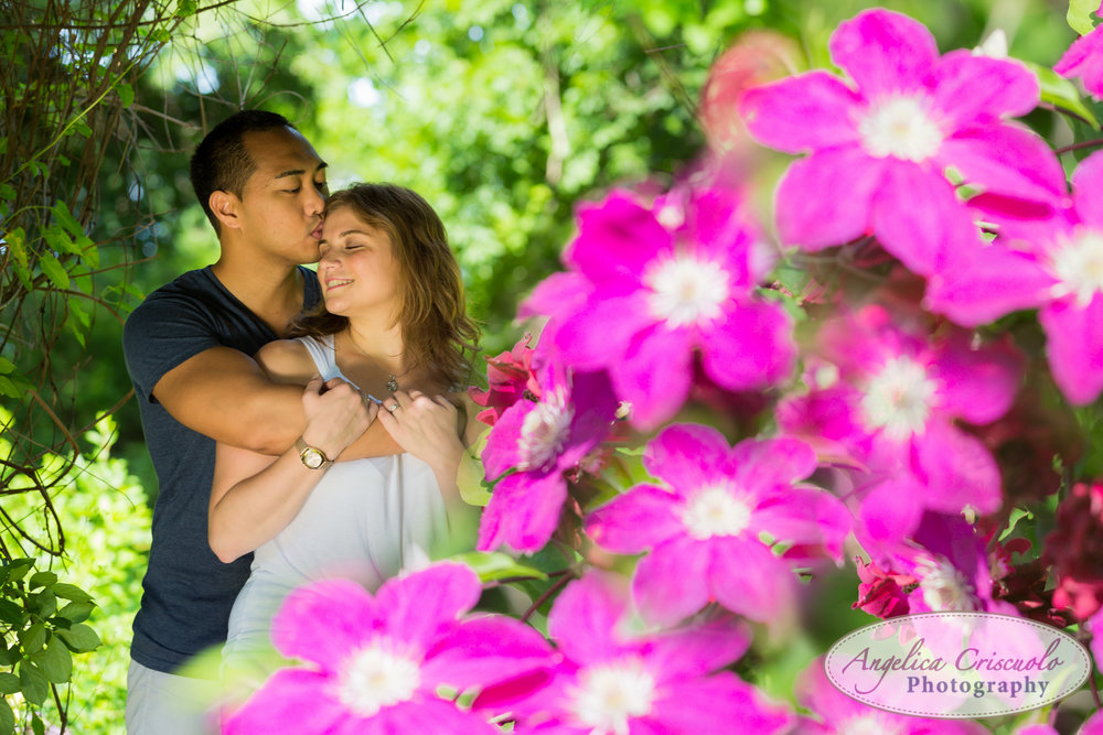 Engagement photographer in New Jersey Botanical Garden