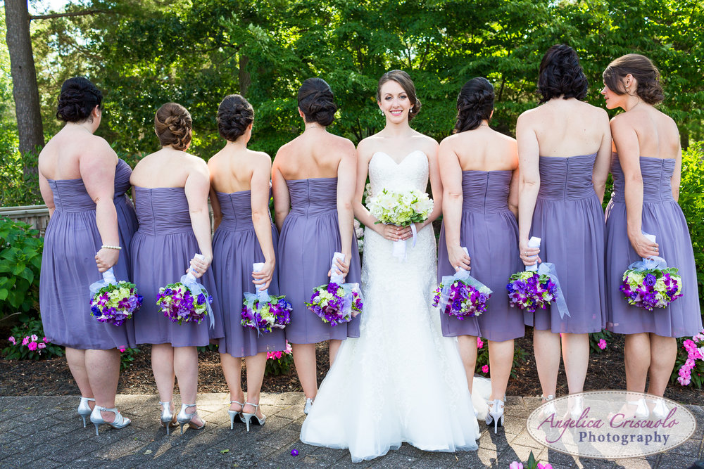 Style Me Pretty bridal party in purple