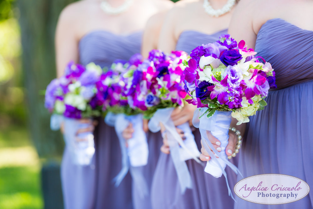 Purple bouquet new york wedding photographer