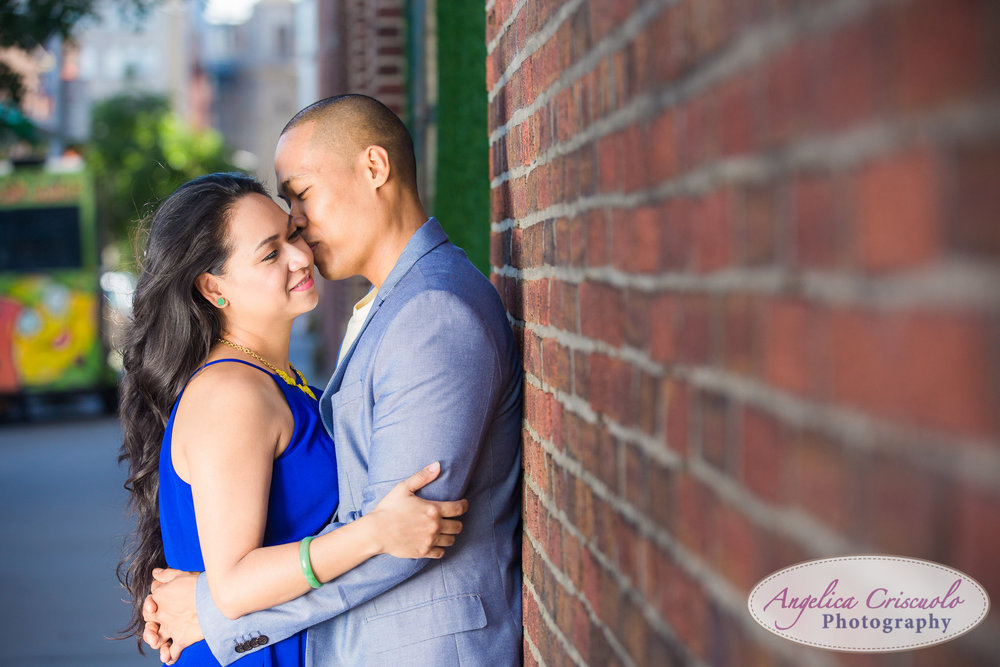 Romantic engagement photos in Brooklyn New York