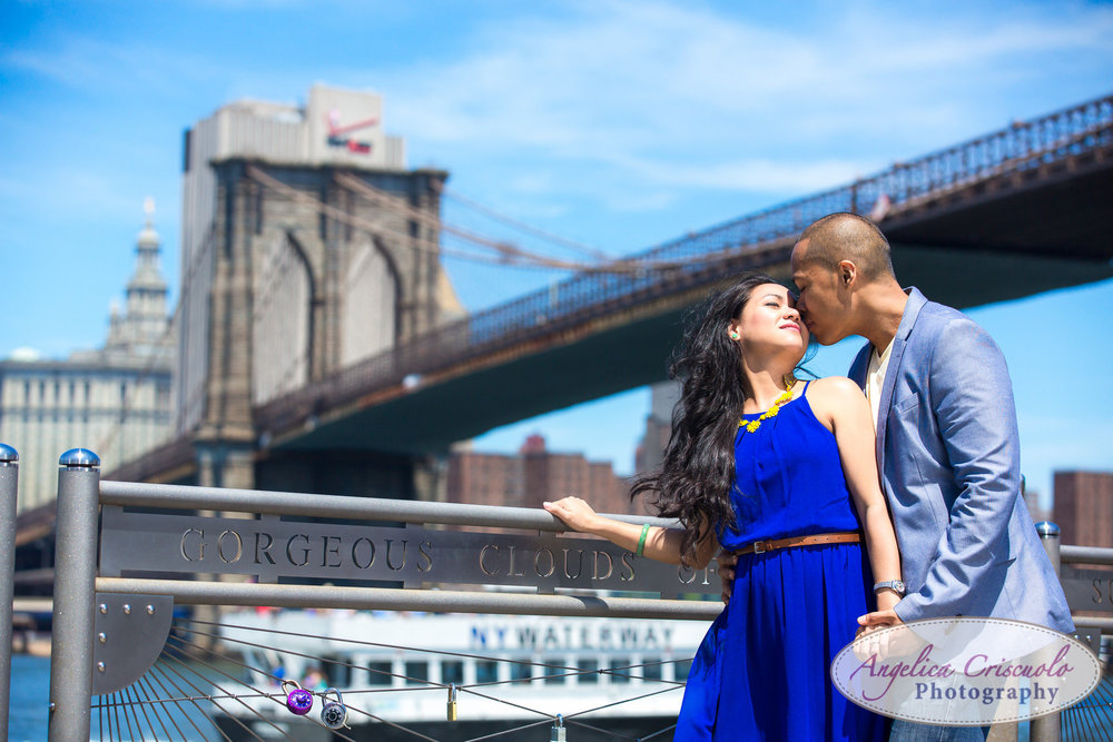 New York City engagement photos brooklyn promenade