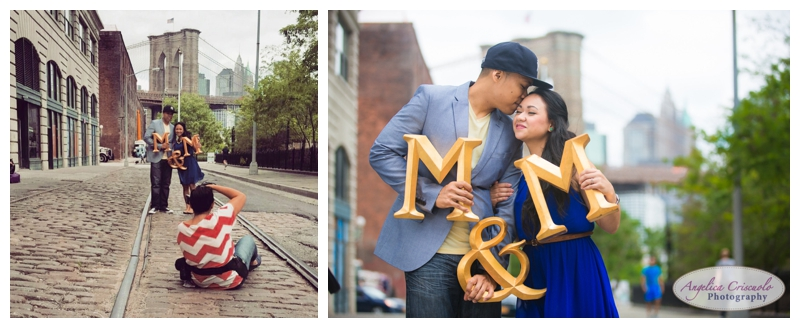 Behind The scenes on an Brooklyn NY Engagement Photo