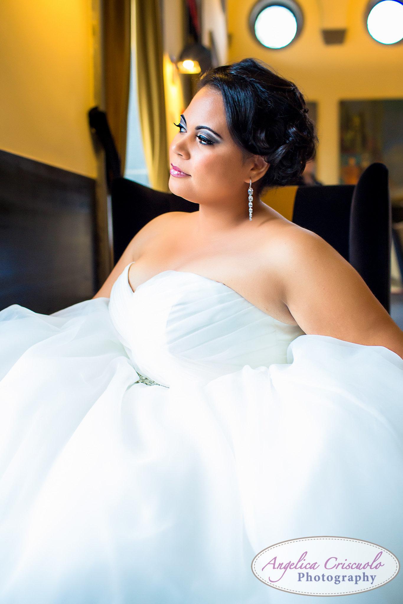 Bride portrait Pelham Bay & Split Rock Golf Course Wedding in the Bronx