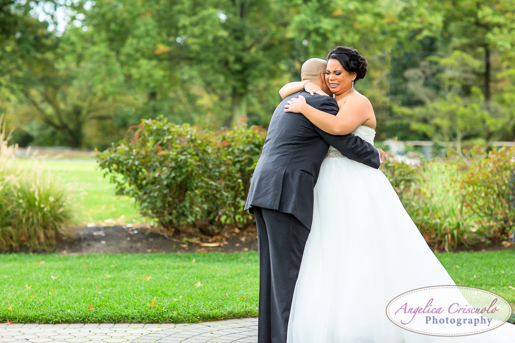 Pelham Bay & Split Rock Golf Course Wedding in the Bronx First Look emotion