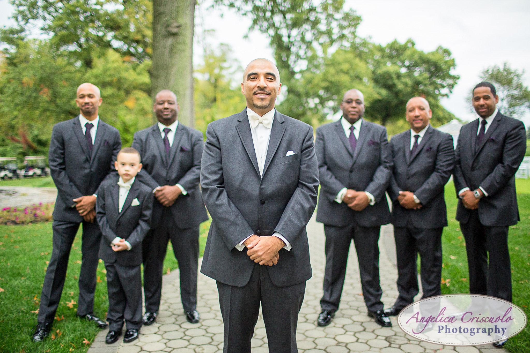 Groomsmen Photo Pelham Bay & Split Rock Golf Course Wedding in the Bronx