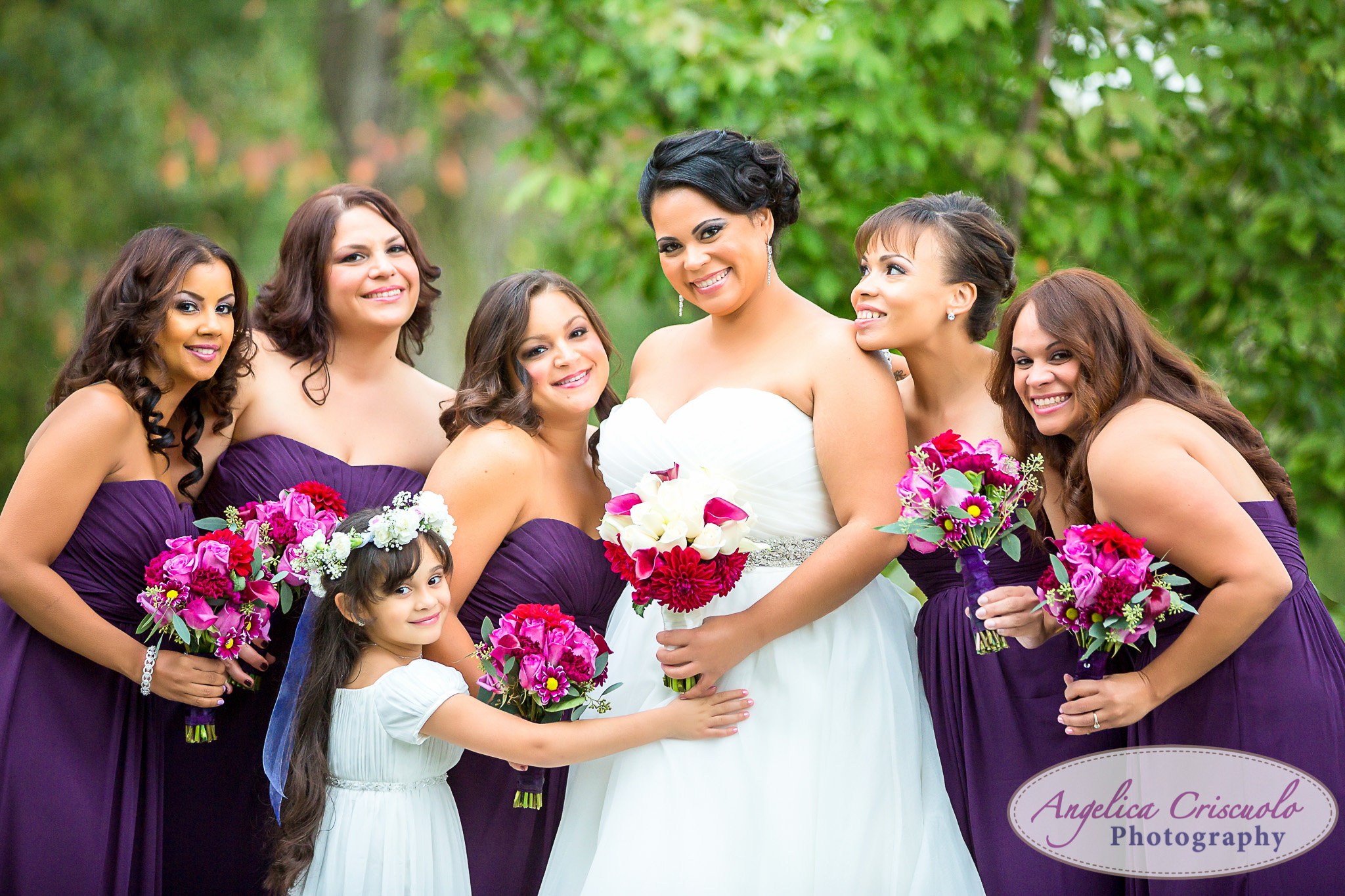 Bride and her bridesmaids at Pelham Bay & Split Rock Golf Course Wedding in the Bronx
