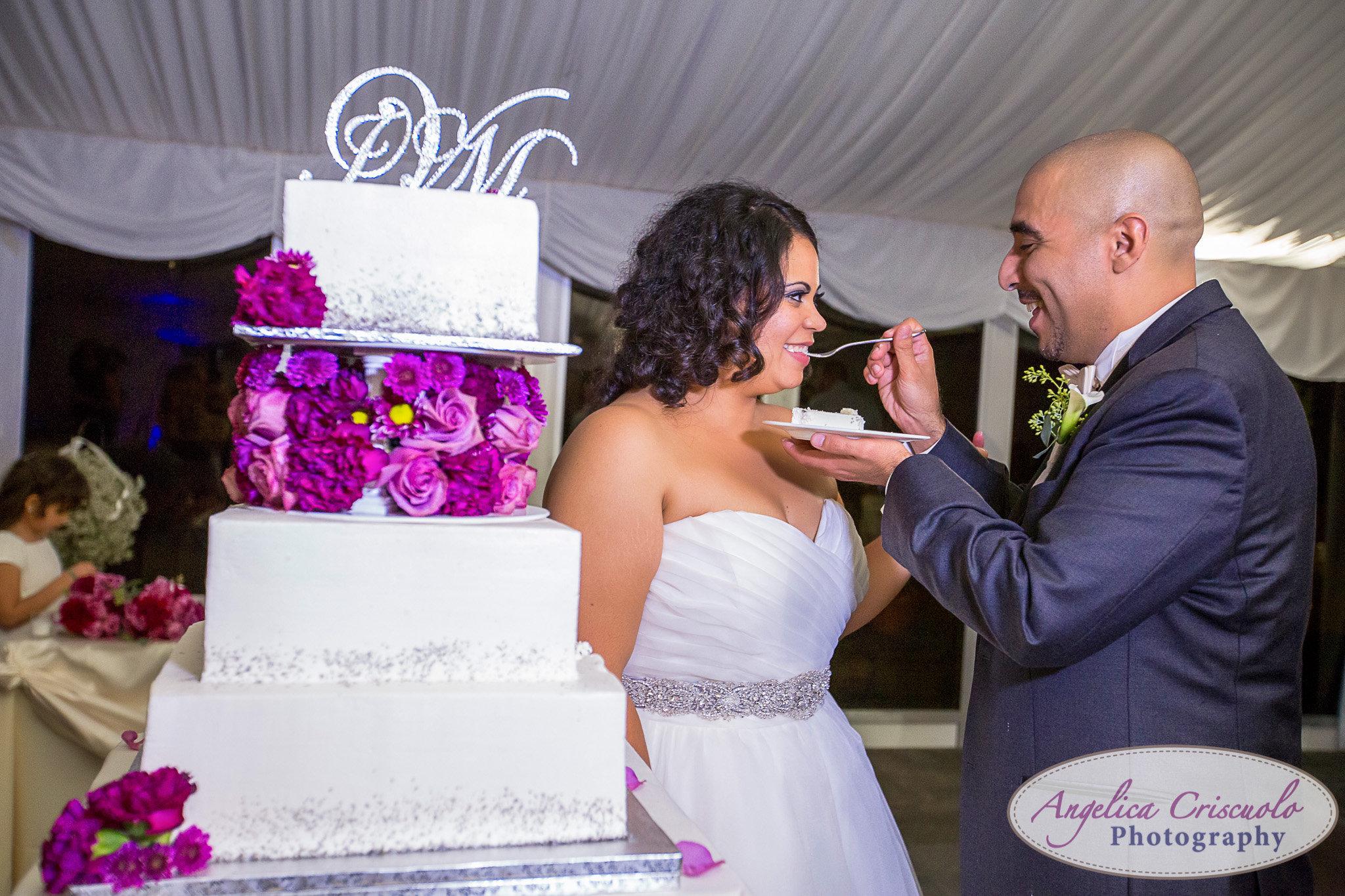 Conti's Pastry Shop wedding cake New York Wedding photographer pelham bay split Rock