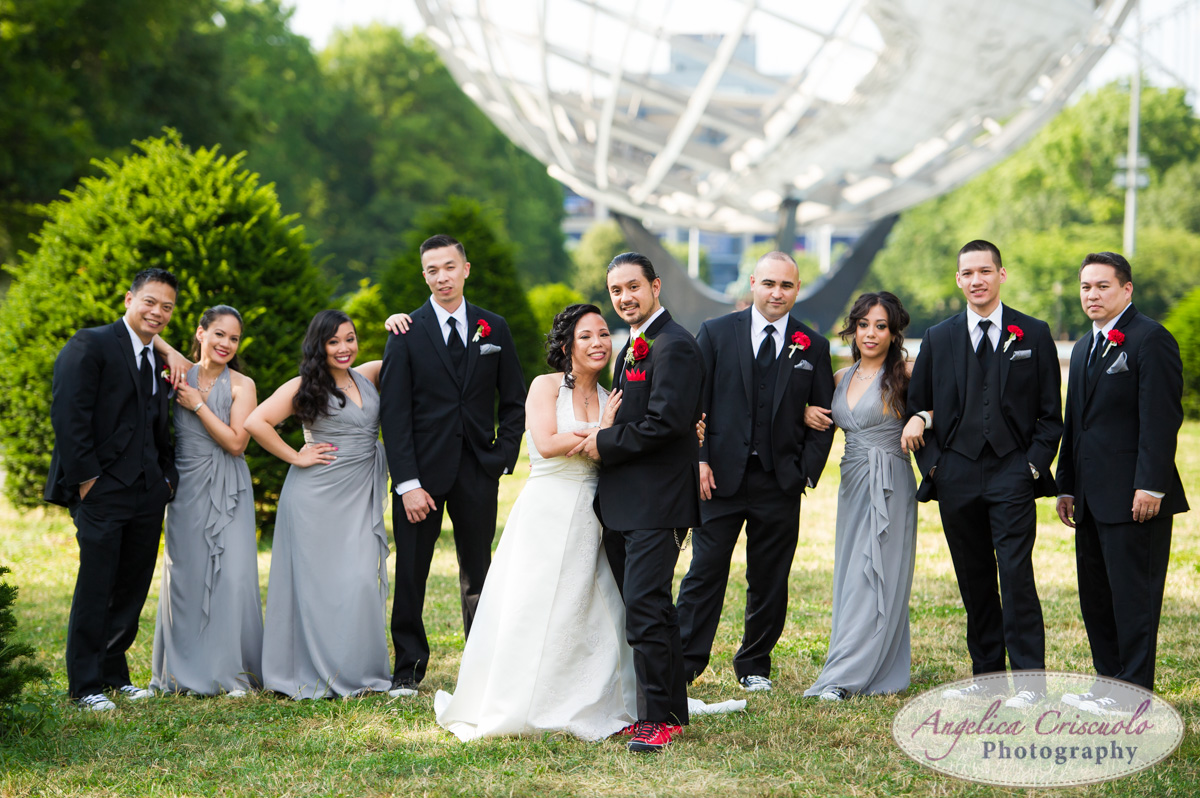 NYC Queens Wedding Photographer Terrace on The park Bridal Party
