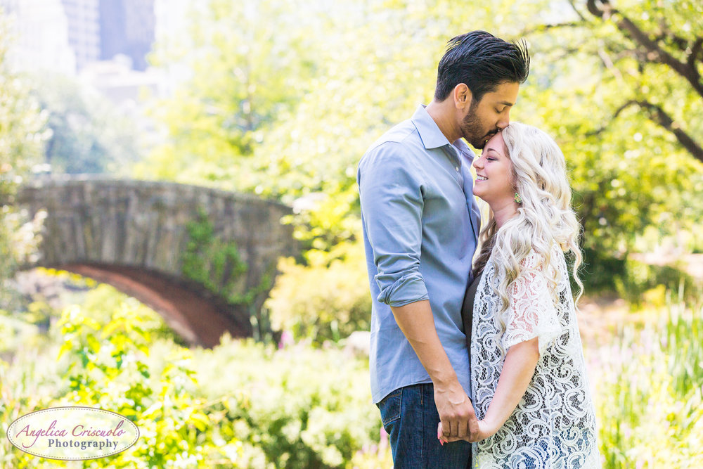 NYC Surprise proposal ideas in Central Park Gapstow Bridge