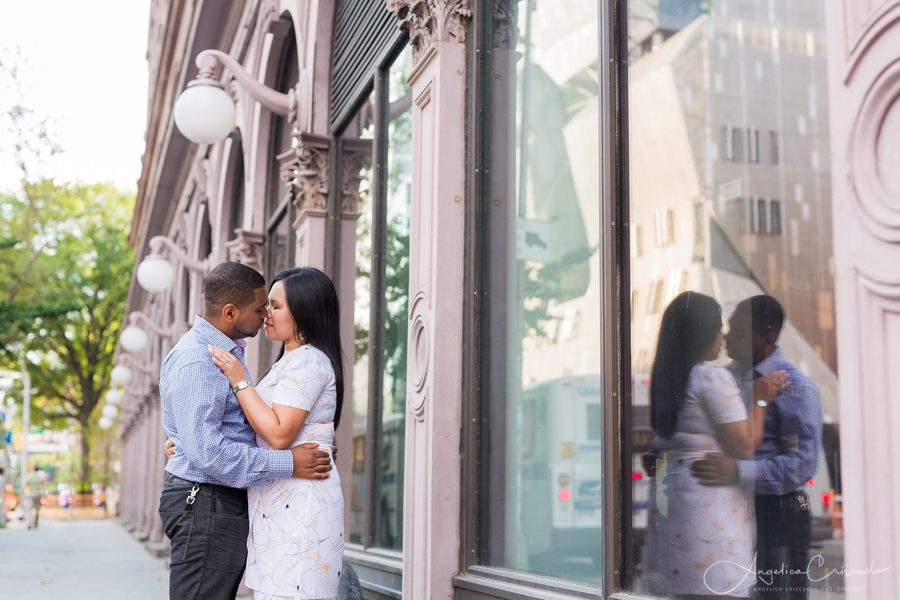 NYC Union Square pre wedding photography engagement