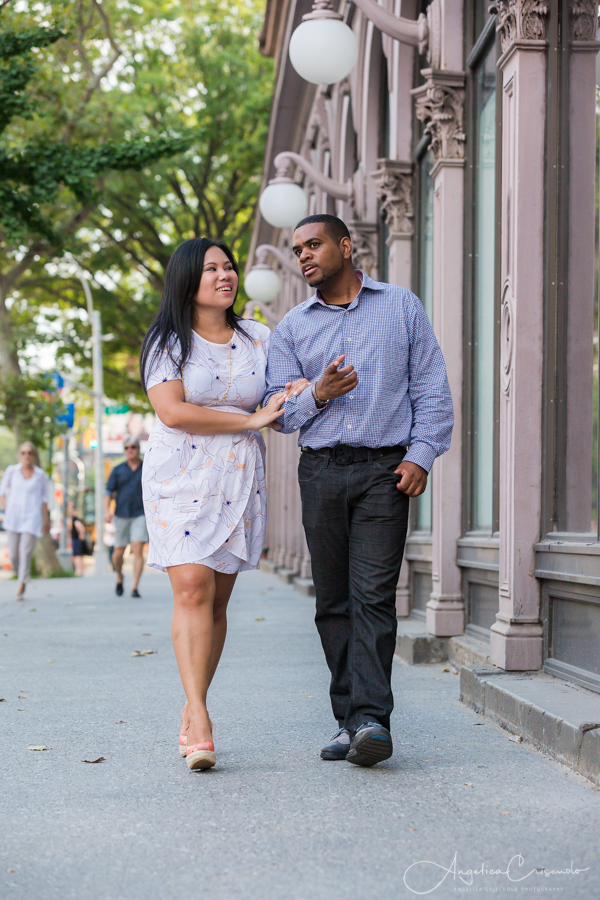 NYC Union Square pre wedding photos engagement Washington Square Park