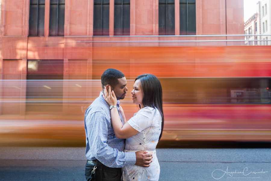 New York Washington Square engagement pre wedding photos