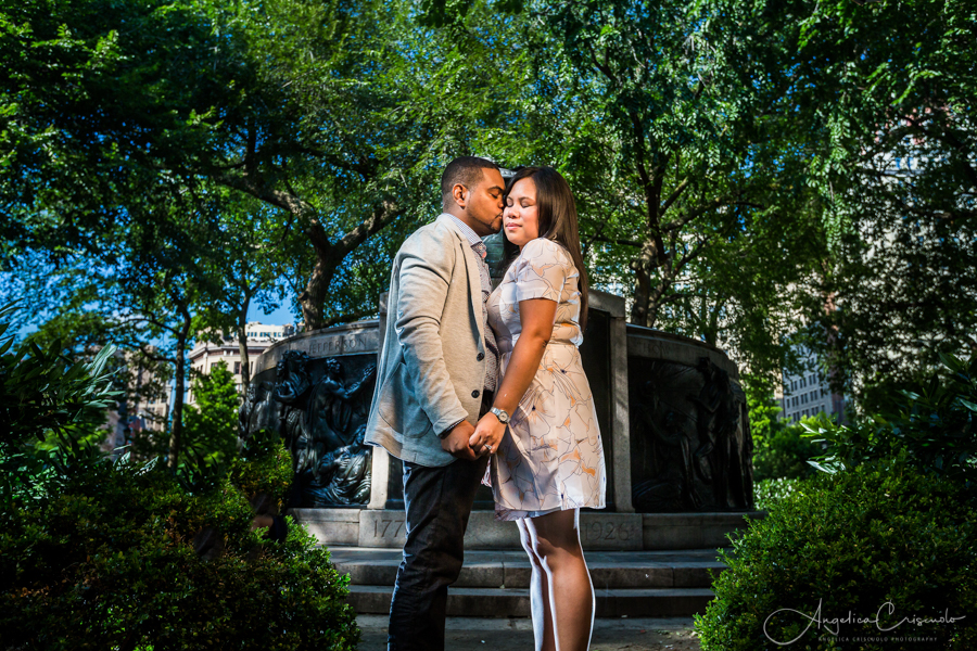 New York Washington Square engagement photographer