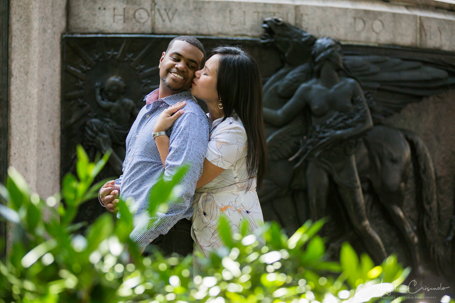 New York Washington Square engagement photographers