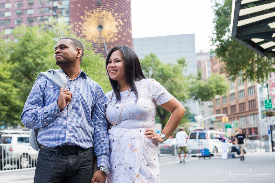 NYC Union Square pre wedding photos engagement