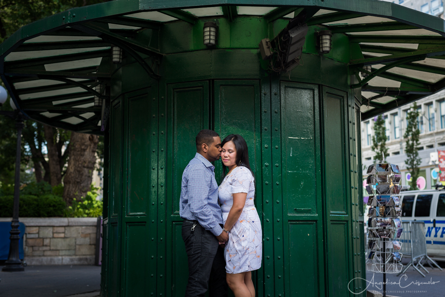 NYC Union Square pre wedding photographer for engagement