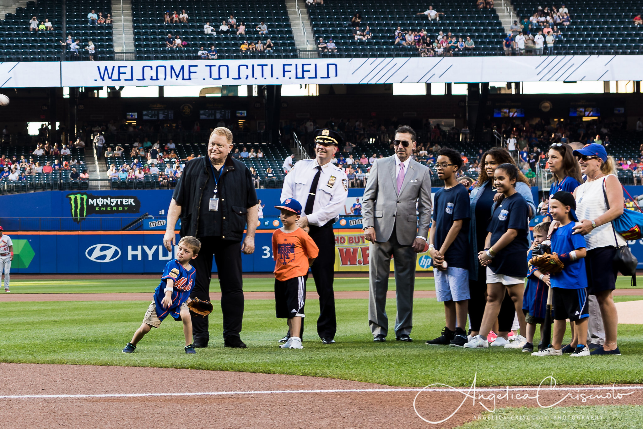 New York Event photos First Pitch ceremony Answer The Call
