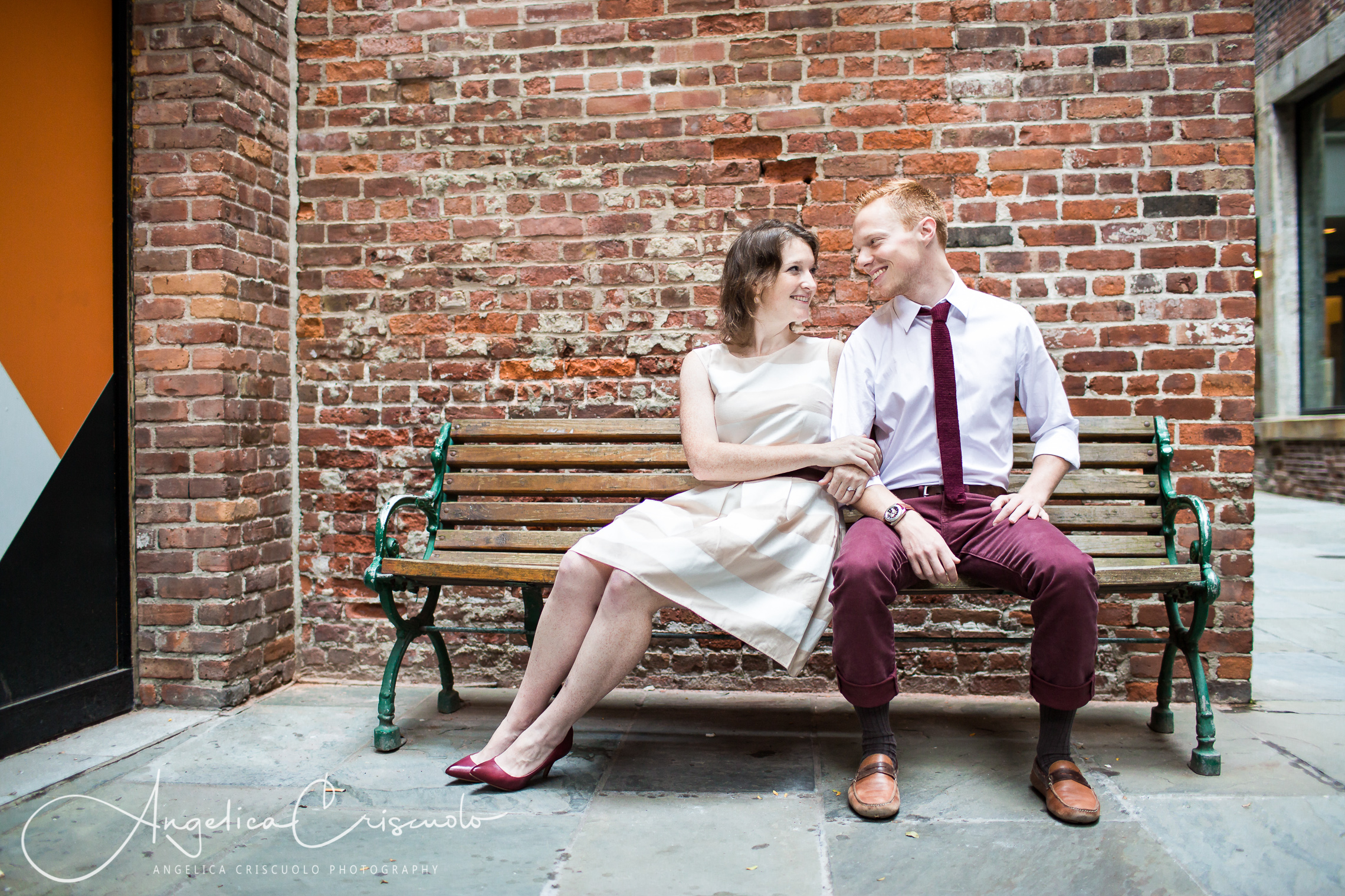 NYC Engagement photos in South Street Seaport Ideas