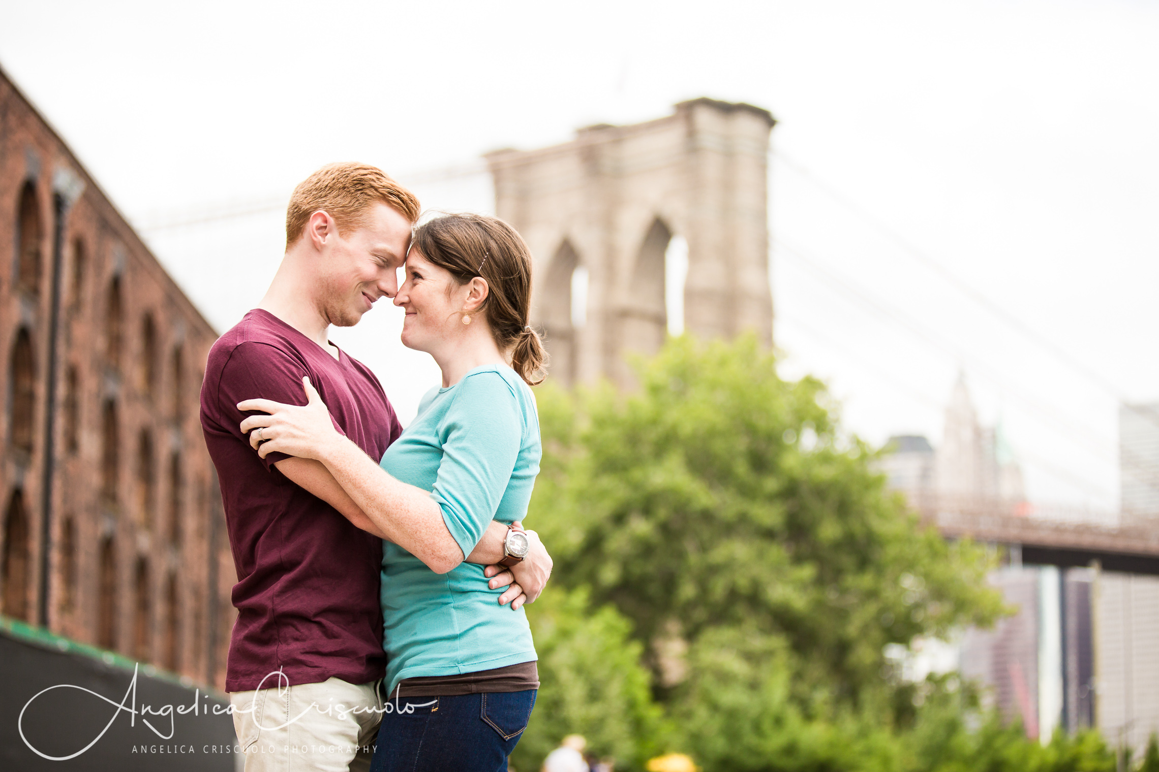 NYC Engagement photos in Dumbo and Brooklyn Bridge