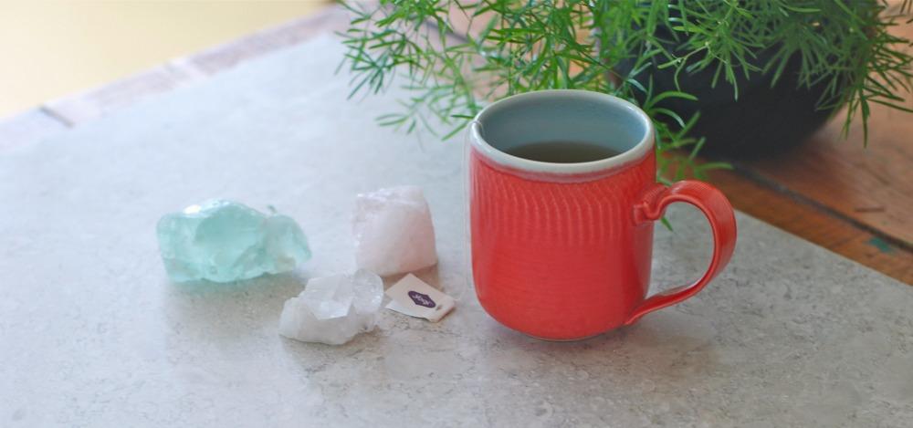 tea and crystal