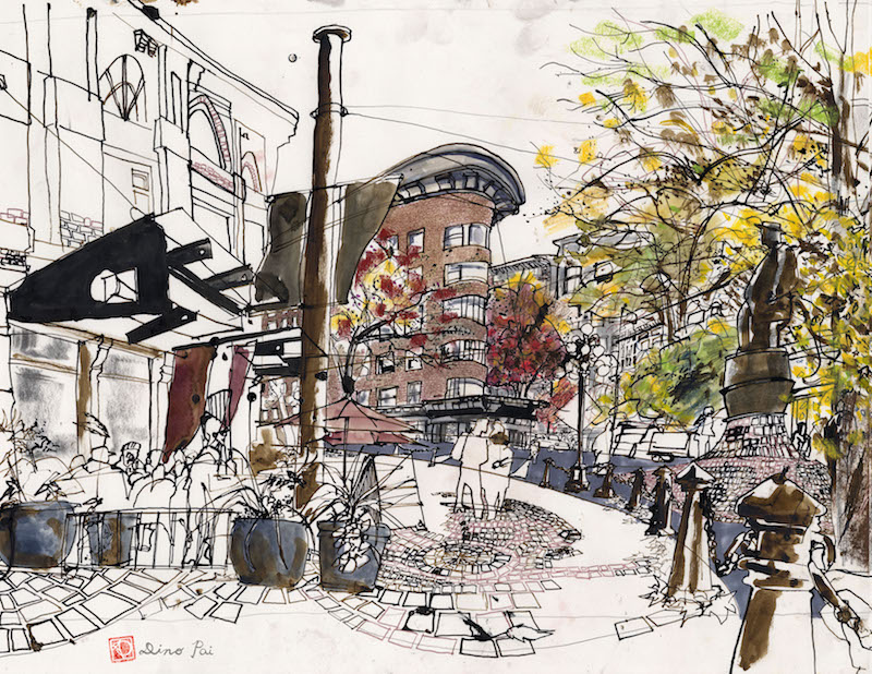 Urban Drawing Art Class with Dino Pai | The Luminous Elephant Studio Vancouver B.C.