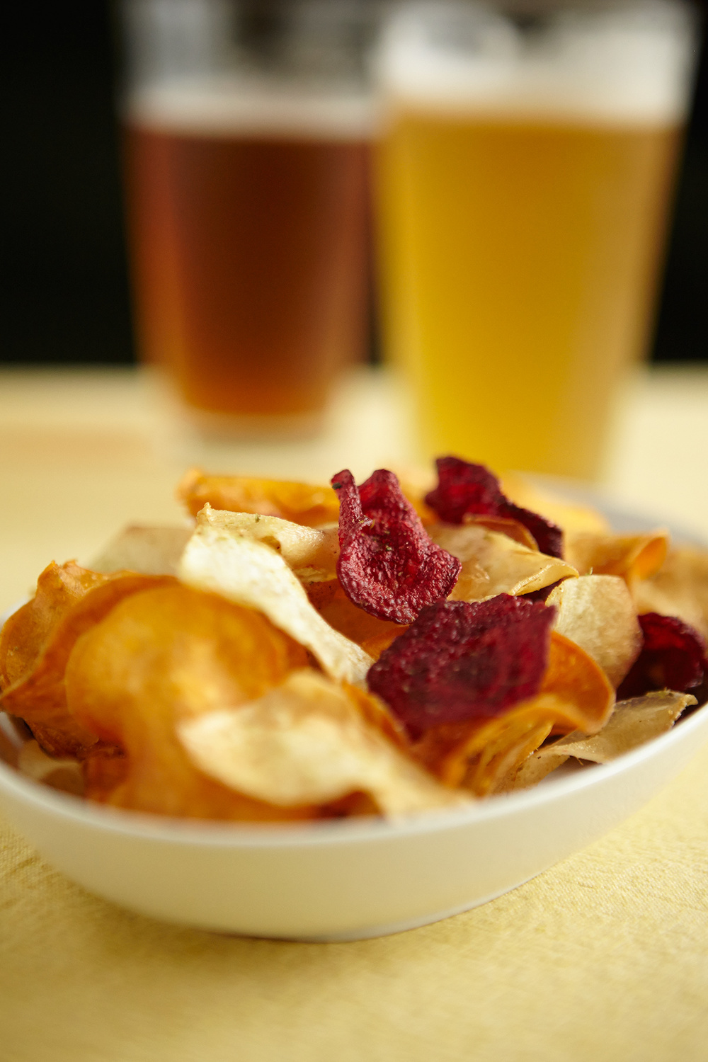 Hop-Dusted Root Veggie Chips