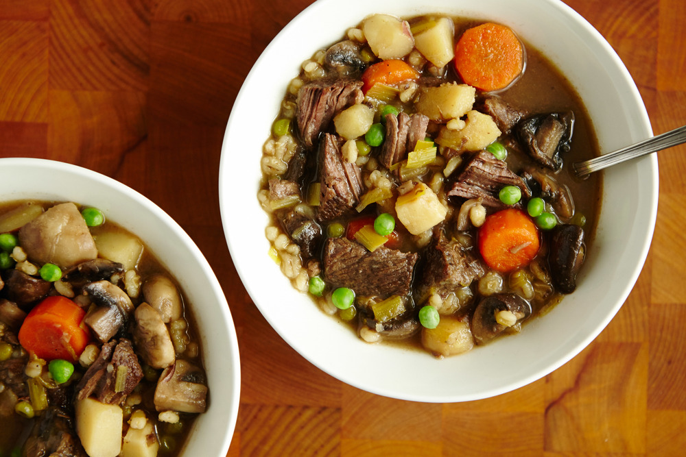 Mushroom Barley Beef Stew