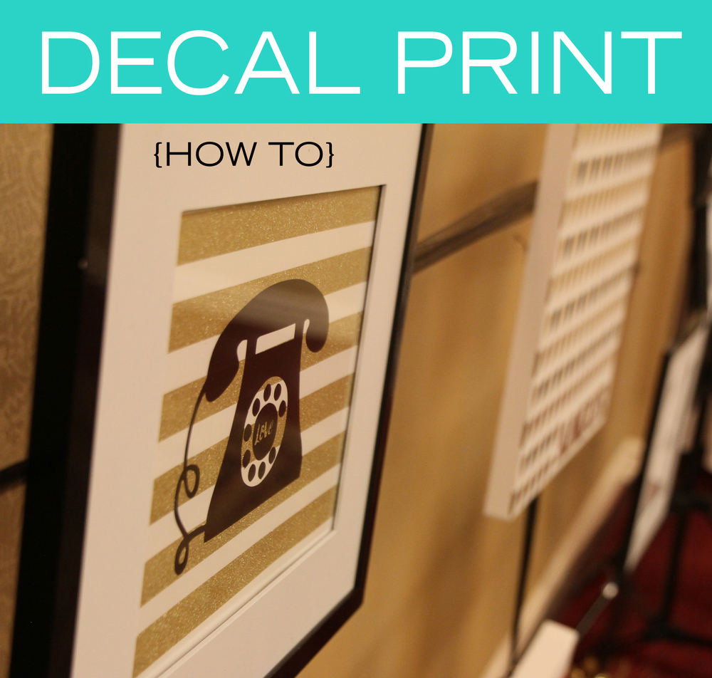 Decal Print {How To} // digital-couture